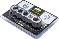 Разветвитель прикуривателя на 4 + 2 USB WF-4008