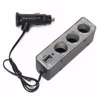 Разветвитель прикуривателя на 3 + 1 USB WF-0096