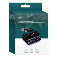 Разветвитель прикуривателя на 3 + 2 USB DREAM